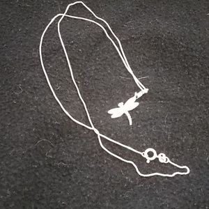 20 inch Sterling silver necklace and charm